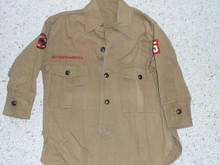 1930's Scout Shirt with Felt No BSA Airplane Patrol Patch, very small