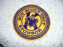 Kiwanis Club Boy Scout Unit Sponsor Felt Flag emblem