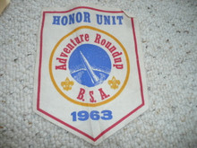 1963 Adventure Round-up Honor Unit Felt Pennant