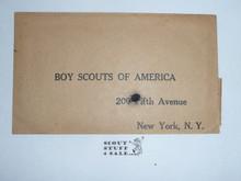 Teens Boy Scouts of America 200 5th Avenue Return Envelope