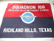 Air Scout Squadron #168 Flag, Richland Hills Texas, some small holes