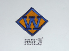 Webelos W Cub Scout Rank, twill, lt use