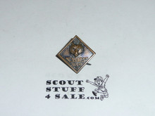 "Wolf ""CUBS BSA"" Rank Pin, bronze"