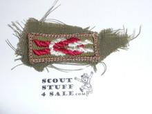 Silver Buffalo Award Knot on Khaki, 1946-1983, used