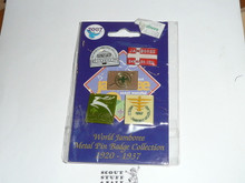 2007 Boy Scout World Jamboree 1920-37 Commemorative Pin Set