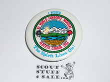 1983 Boy Scout World Jamboree I Visited  - The Spirit Lives on Button