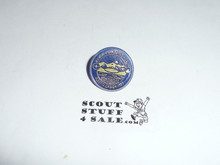 1983 Boy Scout World Jamboree Plastic Pin, Blue