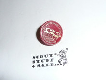 1983 Boy Scout World Jamboree Plastic Pin, Red