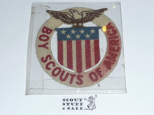 1920 & 1924 Boy Scout World Jamboree Felt USA Contingent Patch, some color run but unsewn