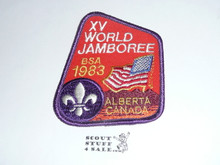1983 Boy Scout World Jamboree USA Contingent Patch