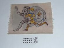 1963 Boy Scout World Jamboree Runners Woven Patch