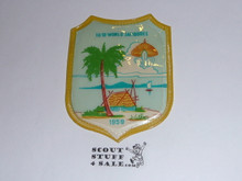 1959 Boy Scout World Jamboree Official Shield Souvenir Patch