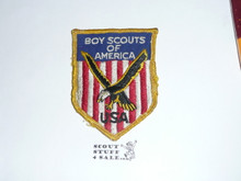1957 Boy Scout World Jamboree USA Contingent Patch, used