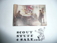"Small Print of Famous British Scout Painting, 2.5""x4"""