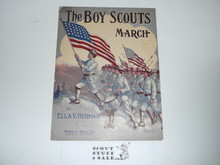 1911 The Boy Scouts March Sheet Music