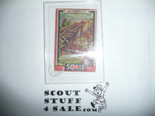 1933 Some Boy Chewing Gum Boy Scout Card Set By the Goudey Gum Company, Boston Ma, #48 Saving the Train