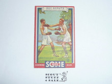 1933 Some Boy Chewing Gum Boy Scout Card Set By the Goudey Gum Company, Boston Ma, #4 A Scout is Clean