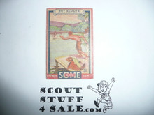 1933 Some Boy Chewing Gum Boy Scout Card Set By the Goudey Gum Company, Boston Ma, #3 A Scout Is Brave