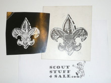 Original Art Board Artwork of Scout Emblem With Reverse Photo Stat