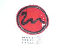 Rattlesnake Patrol Medallion, Felt No BSA & Gauze Back, 1927-1933, Lt. Use with some mothing