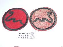 Rattlesnake Patrol Medallion, Felt No BSA & Gauze Back, 1927-1933, Lt. Use