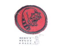 Racoon Patrol Medallion, Felt No BSA & Gauze Back, 1927-1933, Lt. use