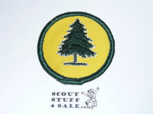 Pine Tree Patrol Medallion, Yellow Twill with gauze back, 1972-1989