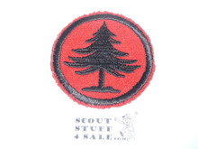 Pine Tree Patrol Medallion, Felt No BSA & Gauze Back, 1927-1933