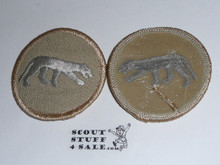 Panther Patrol Medallion, Tan Twill with plastic back, 1989-2002