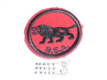 Lion Patrol Medallion, Felt w/BSA & Solid Black Ring back, 1933-1939