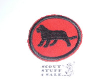 Lion Patrol Medallion, Felt No BSA & Gauze Back, 1927-1933