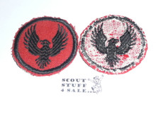 Flying Eagle Patrol Medallion, Felt No BSA & Gauze Back, 1927-1933, Lt. Use