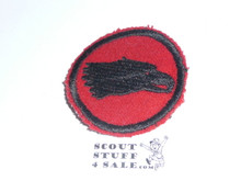 Eagle Patrol Medallion, Felt No BSA & Gauze Back, 1927-1933, Lt Use