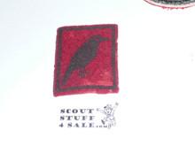 Crow Patrol Medallion, Rectangle Felt, 1925-1926, used