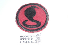 Cobra Patrol Medallion, Felt No BSA & Gauze Back, 1927-1933, lt. use