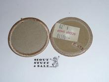 Blank Patrol Medallion, Tan Twill with plastic back, 1989-2002
