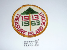 Treasure Island Scout Camp 50th Anniversary Patch 1963