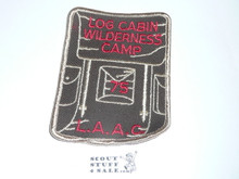 Log Cabin Wilderness Camp Patch 1975