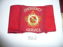 BSA Emergency Service  Armband (White Letters) - Wrap Style - Well used