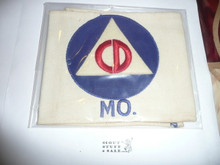 Civil Defense Armband (Felt Emblem)  - Used by Scouts during WWII