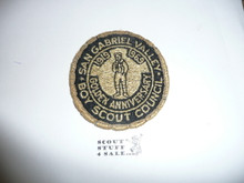 San Gabriel Valley Council Patch (CP) - 50th Anniv - Used
