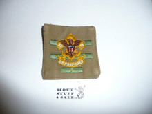 Senior Patrol Leader Patch - 1934 - 1936 - Squatty Crown (S2) - Used