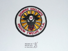 Region 12 rolled edge Twill Patch - PB Reproduction