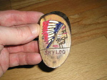 Skyloo O.A. Lodge 1950's Carved Neckerchief Slide-Scout