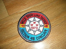 Section W4B 1973 O.A.Conference Patch - Scout