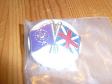 U.K. and World Scouting Emblem Flag Pin - Scout