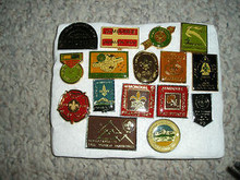 1983 World Boy Scout Jamboree Commemorative Cane/Stave Emblem Set