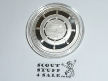 1990 Sterling Silver Florida Scout Sea Base 10th Anniversary Coin / Token