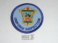 95th BSA Anniversary Patch, Uniform Inspection, blue twill