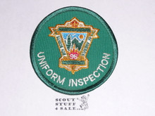 95th BSA Anniversary Patch, Uniform Inspection, green twill